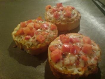 Crostini mit Tomaten - Rezept