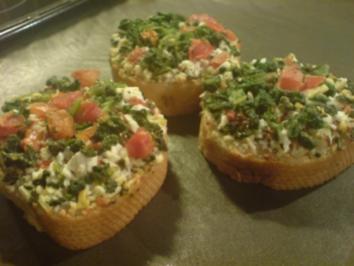 Crostini mit Spinat - Rezept