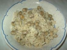Reis mit dicken Bohnen -  Ros ma ful achdar - Rezept