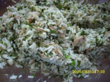 Salat:  fettarmer Reissalat mit Thunfisch - Rezept
