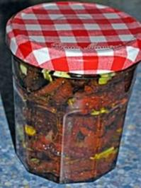 Getrocknete in Öl  eingelegte Tomaten - Rezept