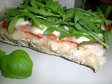 Warmes  Ciabatta mit  Rucola, Parmaschinken und Mozzarella - Rezept