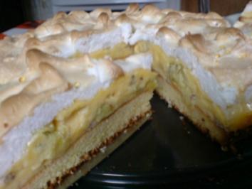 Stachelbeer-Schnee-Torte - Rezept