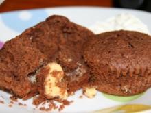 Schokoladentörtchen mit flüssiger weißer Schokolade - Rezept