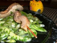 Asia Thunfischspiesse mit Koriander- Gurkensalat - Rezept