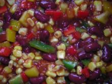 Feuriger Paprika-Bohnen-Mais Salat (Maggi Texicana-Salsa Salat) - Rezept