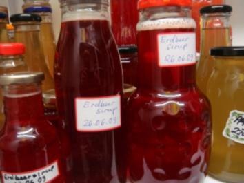 Sirup: Erdbeersirup - Rezept