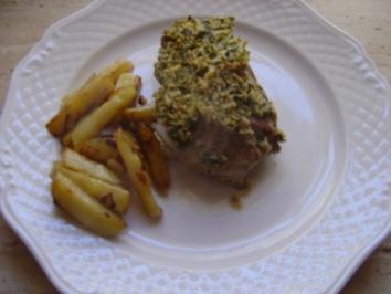 Steak mit Kräuterkruste - Rezept