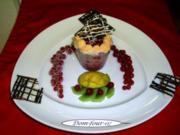 Johannisbeer-Baiser Torte im Glas gebacken - Rezept