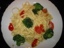Gemüse-Nudeln an Senfsauce - Rezept