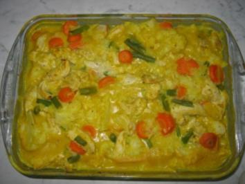 Hähnchen-Curry-Auflauf - Rezept