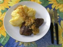 HAUPTGERICHT - Schweineleber, Kartoffelbrei und Röstzwiebeln - Rezept
