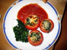 Tomaten mit Spinatfülle - Rezept