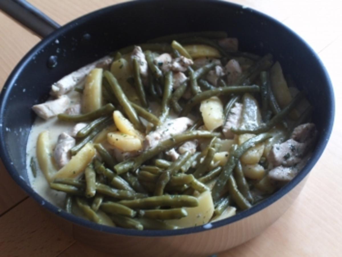 Bohnen-Pfanne mit Kartoffen - Rezept Durch Pinselaffe