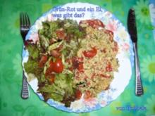 Hauptspeise für Singl: Grün-Rot und ein Ei, was gibt das? - Rezept