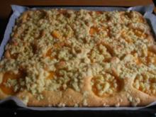 Pfirsich-Blechkuchen - Rezept