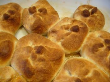 Brötchen süß --- Gefüllte Pausenbrötchen - Rezept