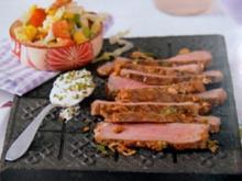 Grillen: Rib-Eye-Steaks mit Wasabi-Sesam-Creme - Rezept