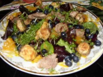 Sommersalat mit fruchtiger Note - Rezept