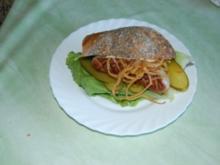 Bratwurst-Hot-Dog im Mehrkornbrötchen - Rezept