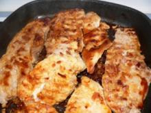 Peito grelhado-gegrillte brust(huhn oder Pute) mit Exotischen Beilagen - Rezept
