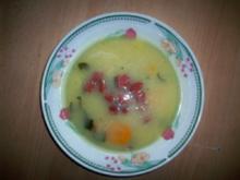 Kartoffelsuppe mit Sucuk und Speck - Rezept