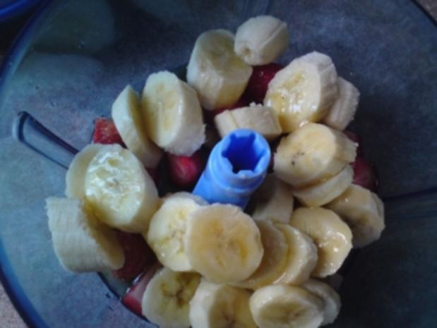 Erdbeer-Bananen Eis - Rezept - Bild Nr. 4