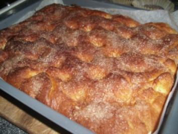 Zucker-Butter-Kuchen mit Zimt - Rezept