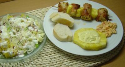 Hähnchen-Ananas-Spieß - Rezept