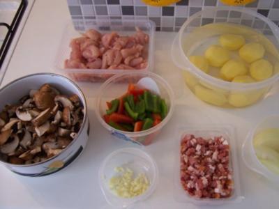 Kartoffel-Hähnchen-Pfanne - Rezept