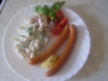Lecker Nudelsalat mit Wiener - Rezept