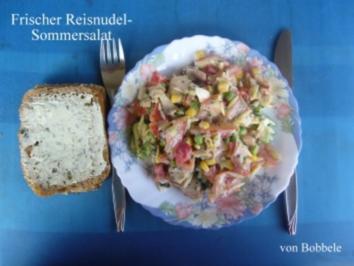 Salat: Frischer Sommer-Reisnudelsalat - Rezept