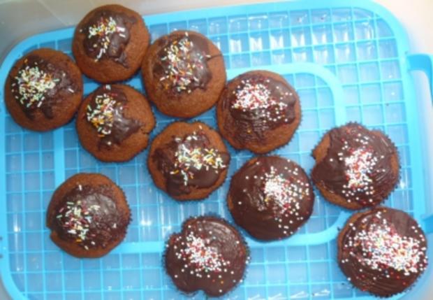 Schwarz-weiße Schoko-Muffins - Rezept
