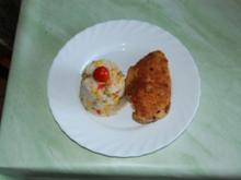 Hähnchen-Cordon-Bleu mit Gemüse-Reis-Timbale - Rezept