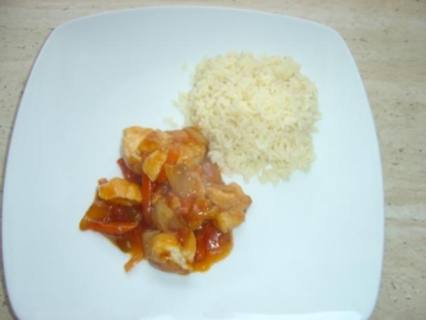 Hähnchen Chinesisch süss-sauer - Rezept