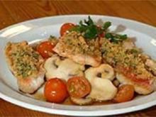 Ofengebackene Rotbarbe mit Gremolata - Rezept