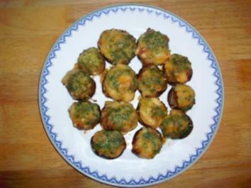 Champignongs pikant gefüllt - Rezept