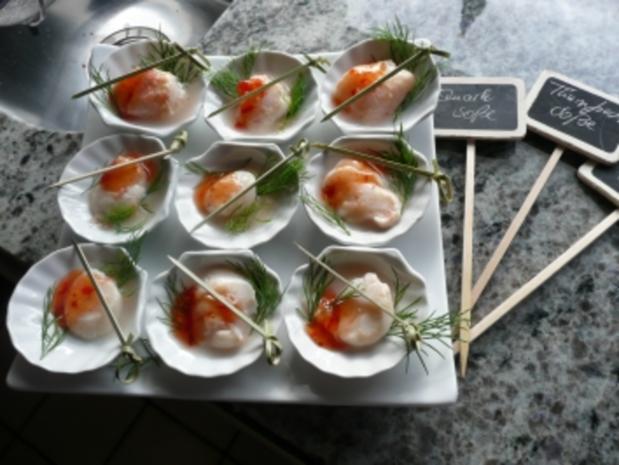 TAPAS /FISCH Jakobsmuscheln mit Limonen und Krebsfleisch - Rezept - Bild Nr. 2