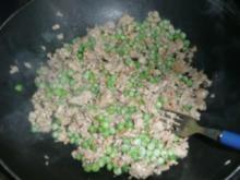 NUDELN/ Spaghetti mit Thunfisch-Erbsen Soße - Rezept