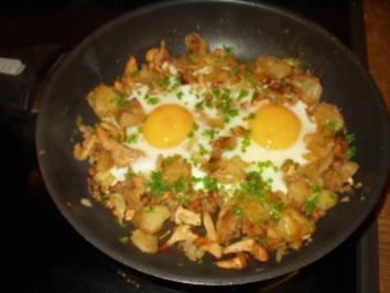 Eierschwammerl-Gröstl - Rezept
