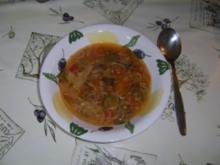 """Pekingsuppe """"Pork"""" ohne Eier mit Nudeln - Rezept"""