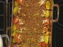 Fischgratin mit Chorizo-Bröseln - Rezept