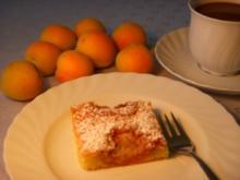 Marillen-Amaretto-Kuchen - Rezept