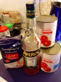 Tomatengelee, ergibt 6 Gläser a 450ml (das 6te große Glas ist schon bei Mutti) - Rezept