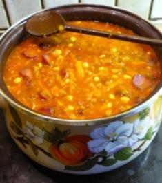 Scharfe Gemüsesuppe mit Cabanossi - Rezept