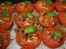 Gegrillte Tomaten mit Knoblauch - Rezept