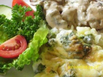 Gemüse:   Kartoffel-Broccoli-Gratin - Rezept
