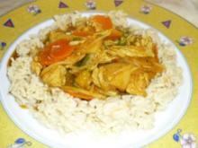 bunte Chinapfanne mit Reis - Rezept
