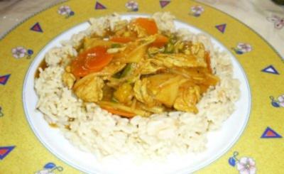 Rezept: bunte Chinapfanne mit Reis