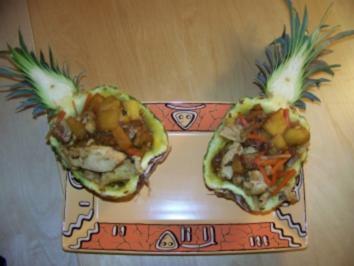 Fleisch - Huhn mit Ananas - Rezept